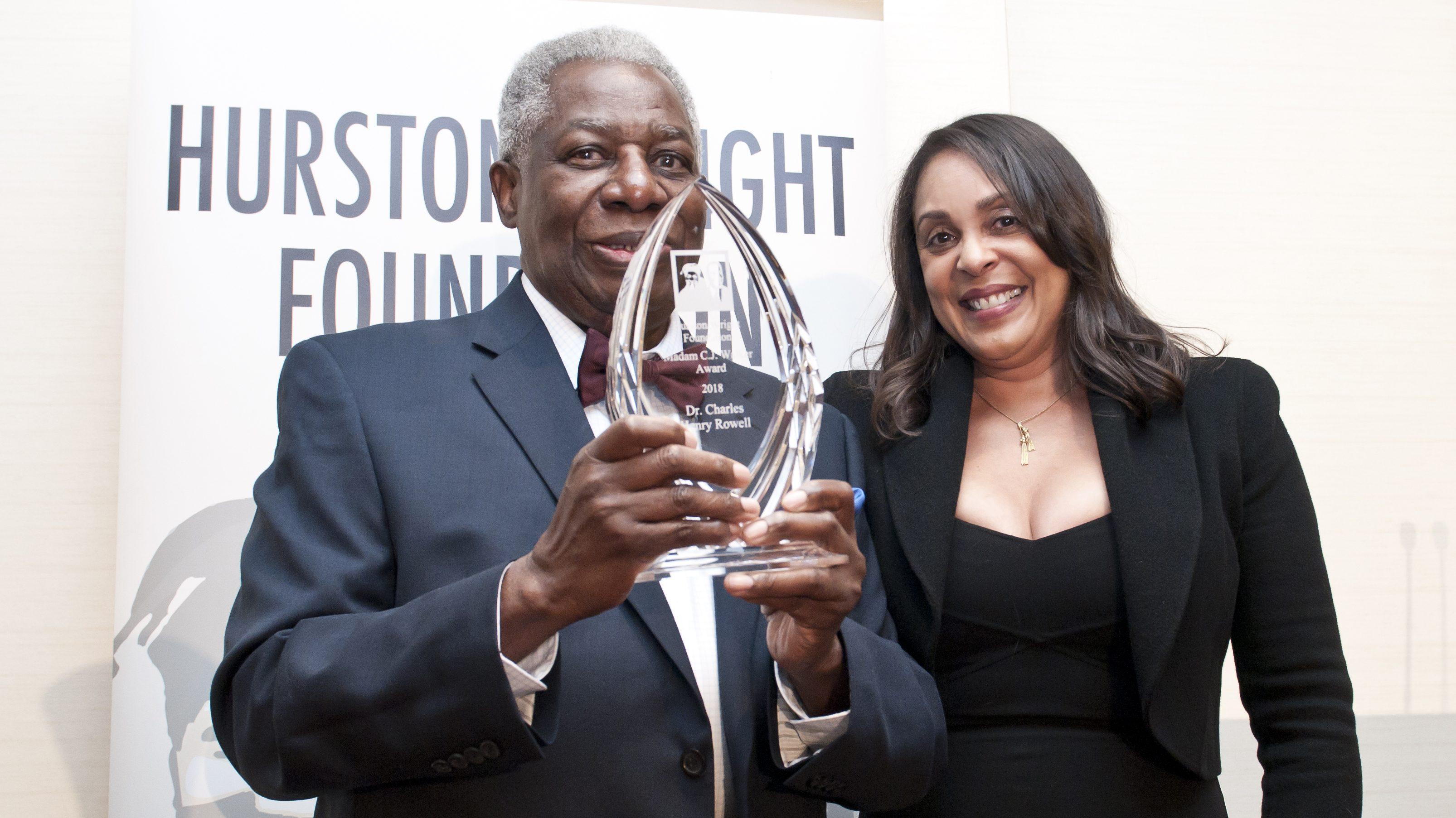 Charles Henry Rowell with Natasha Trethewey (photo credit Stephanie Williams Images)