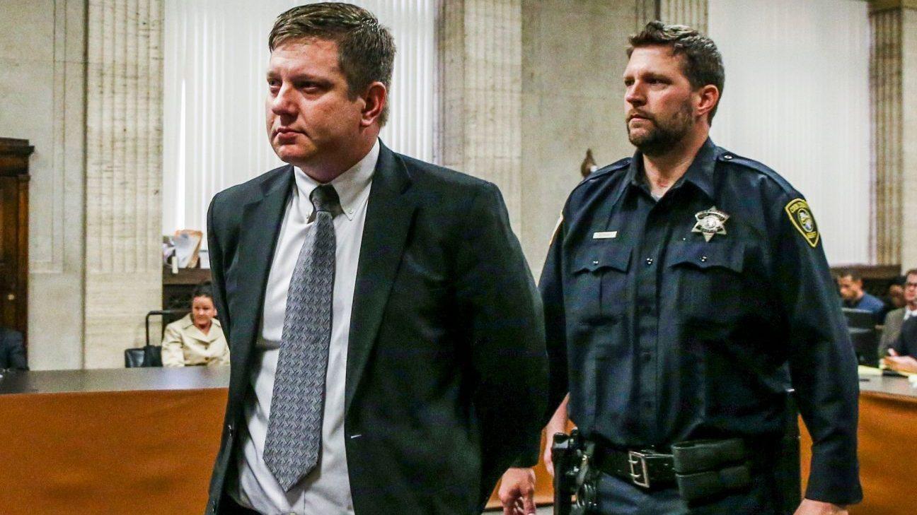 Jason Van Dyke found guilty of second degree murder, Chicago, USA – 05 Oct 2018
