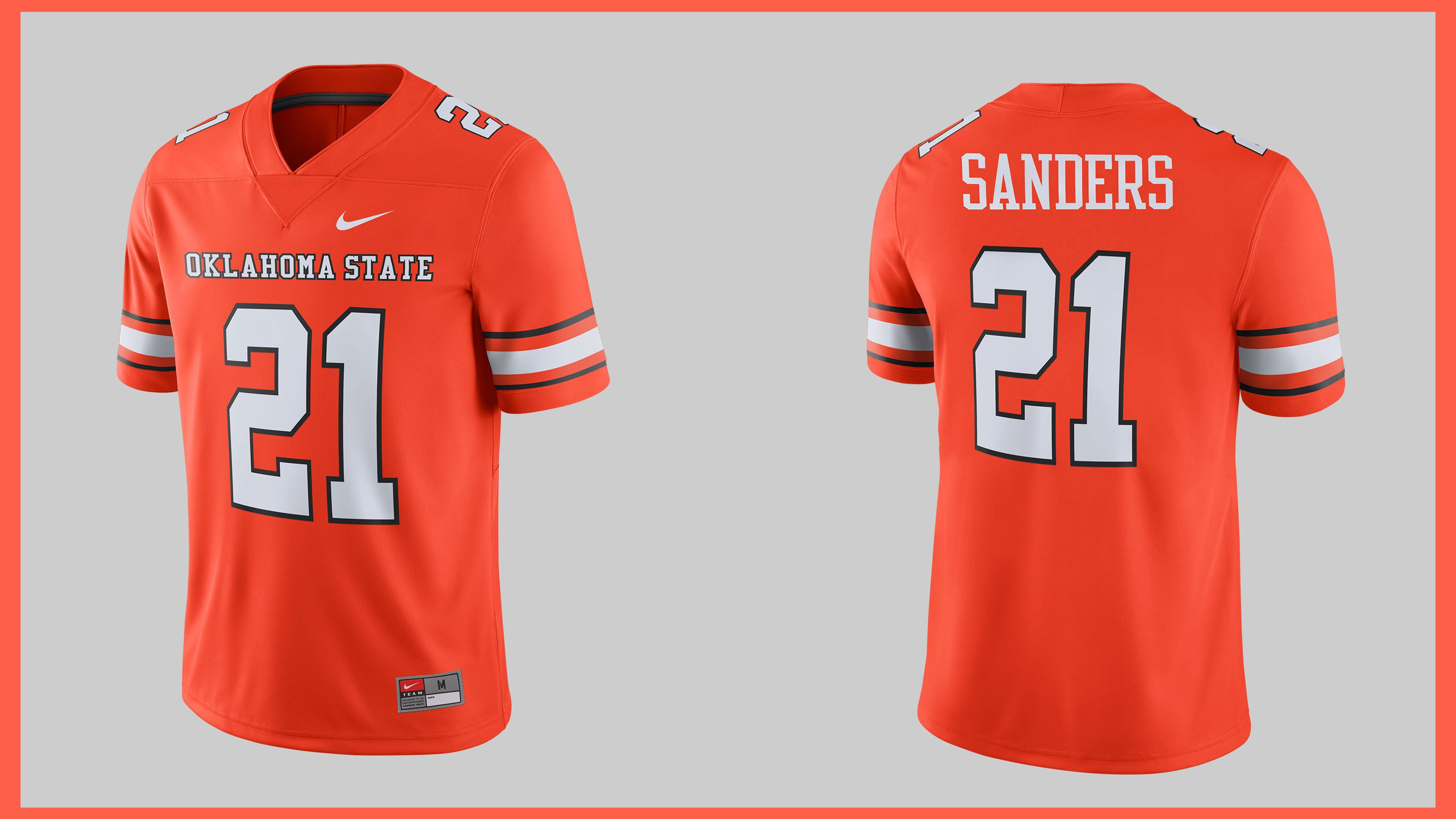 29eb366f Donned by Barry Sanders during one of the greatest individual seasons in  college football history, a version of this '88 Oklahoma State University  throwback ...