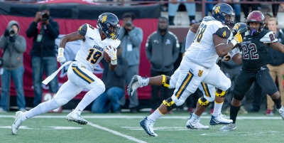 2018 A&T Football at NC Central  www.ncataggies.com – Photo by: Kevin L. Dorsey