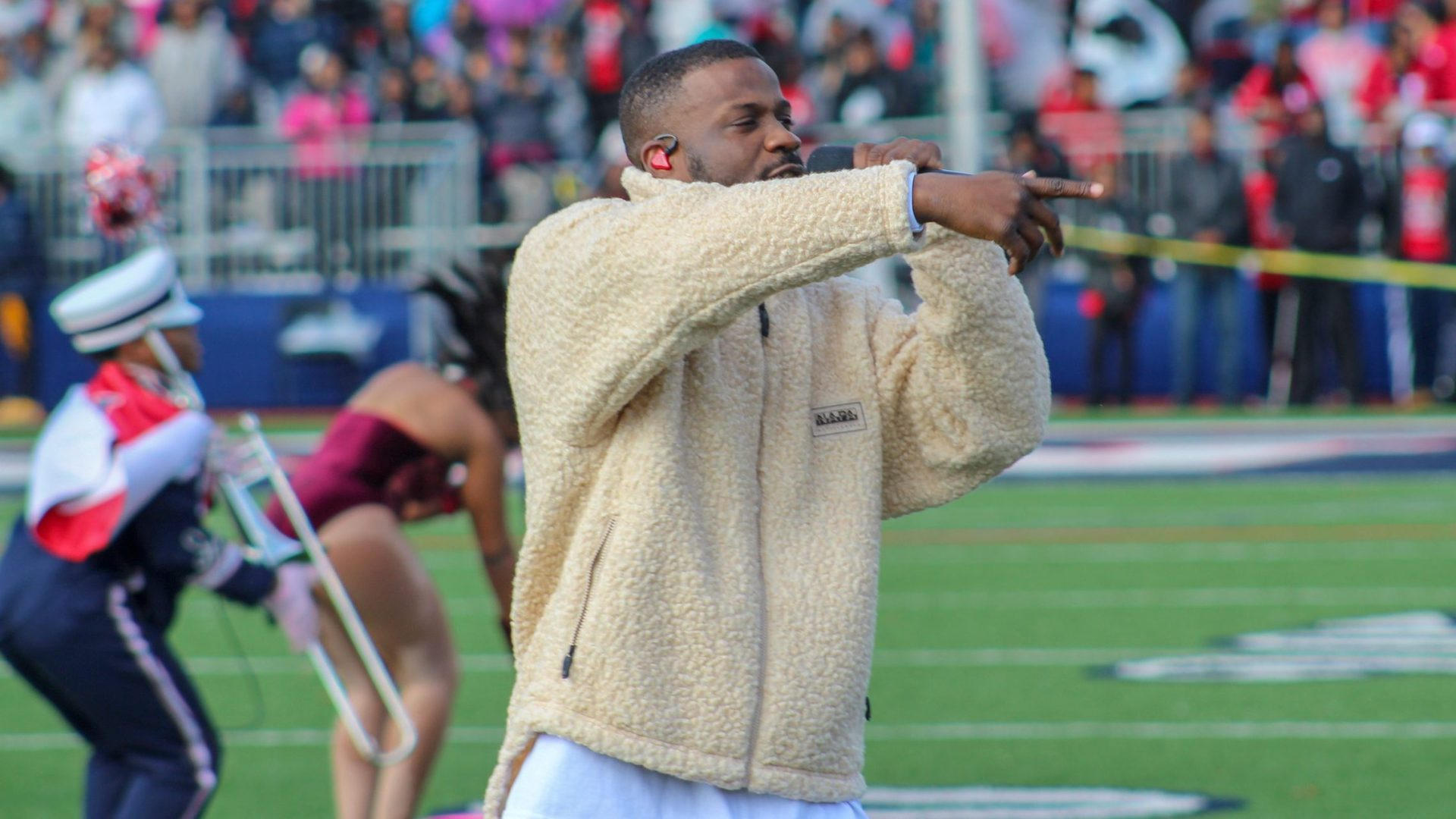 Jay Rock and Howard University band