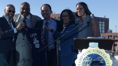 Hampton University triathlon announcement