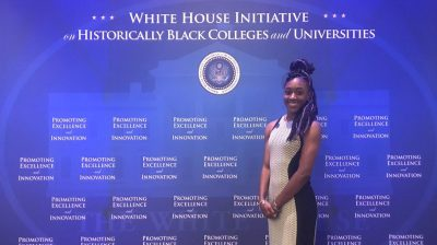 Adriiana Jackson who attend the HBCU Dillard University in New Orleans
