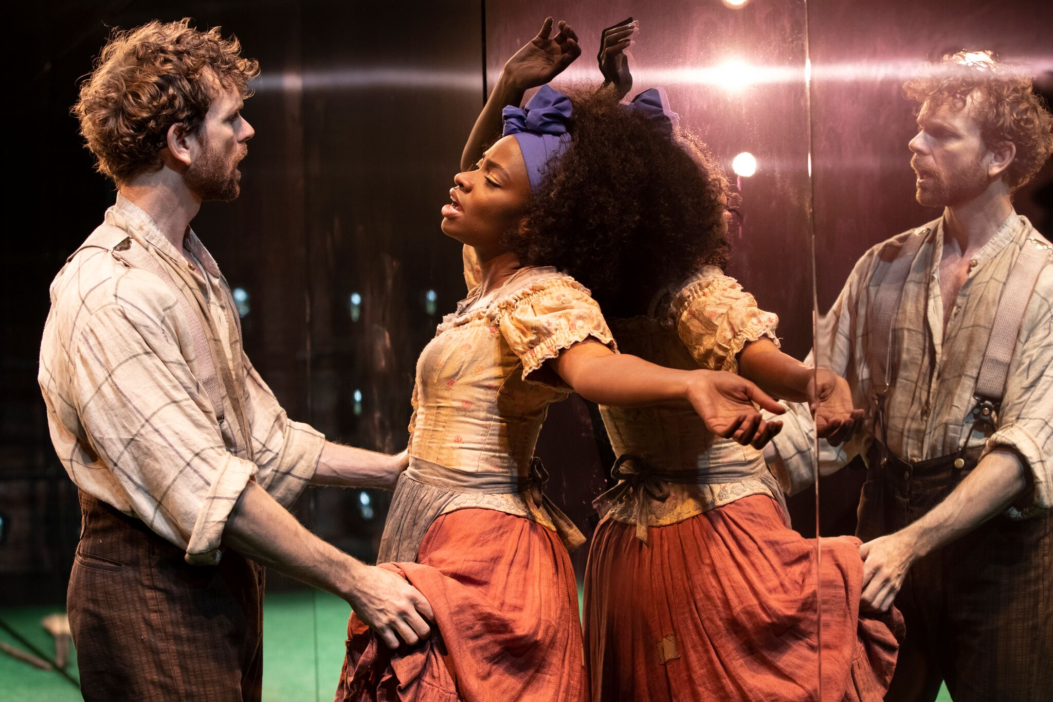 ab217cf4b859a Paul Alexander Nolan (left) as Jim and Teyonah Parris (right) as Kaneisha in  Slave Play.