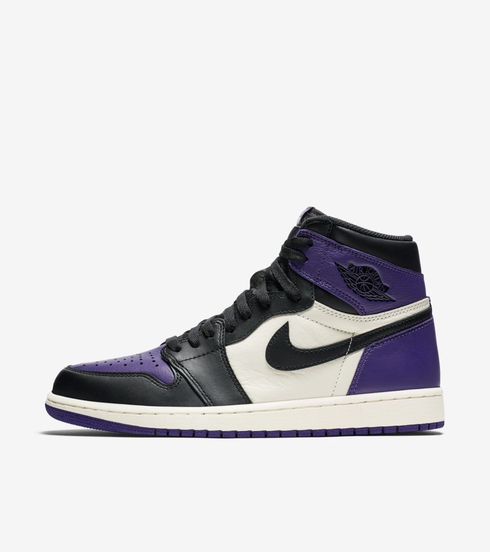 "new style abe57 a3722 ""Court Purple"" Air Jordan 1"