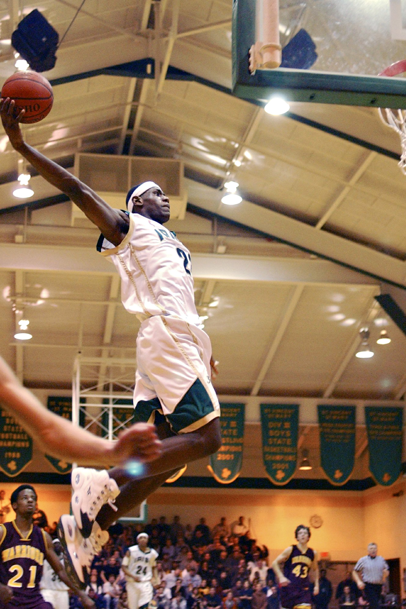 7fb63242a8abd St. Vincent-St. Mary s LeBron James dunks during the second quarter against  Walsh Jesuit on Jan. 24