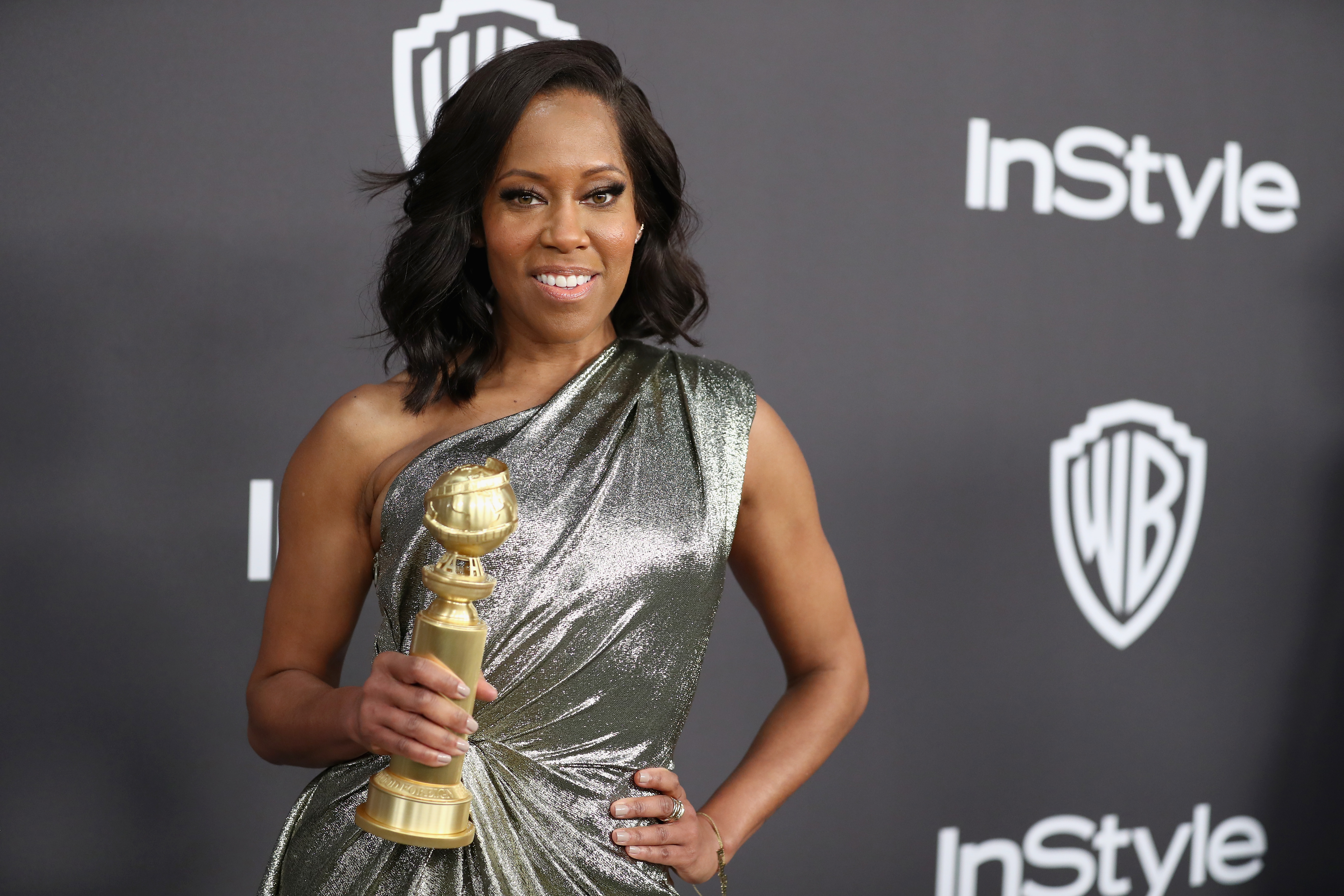 d381f8ff2d8 Regina King attends the InStyle And Warner Bros. Golden Globes After Party  2019 at The Beverly Hilton Hotel on January 6