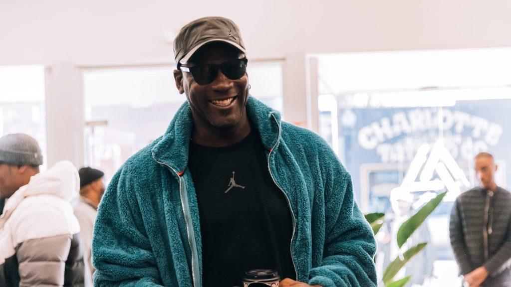 97be4ded74d Michael Jordan visits a North Carolina sneaker store that has a ...