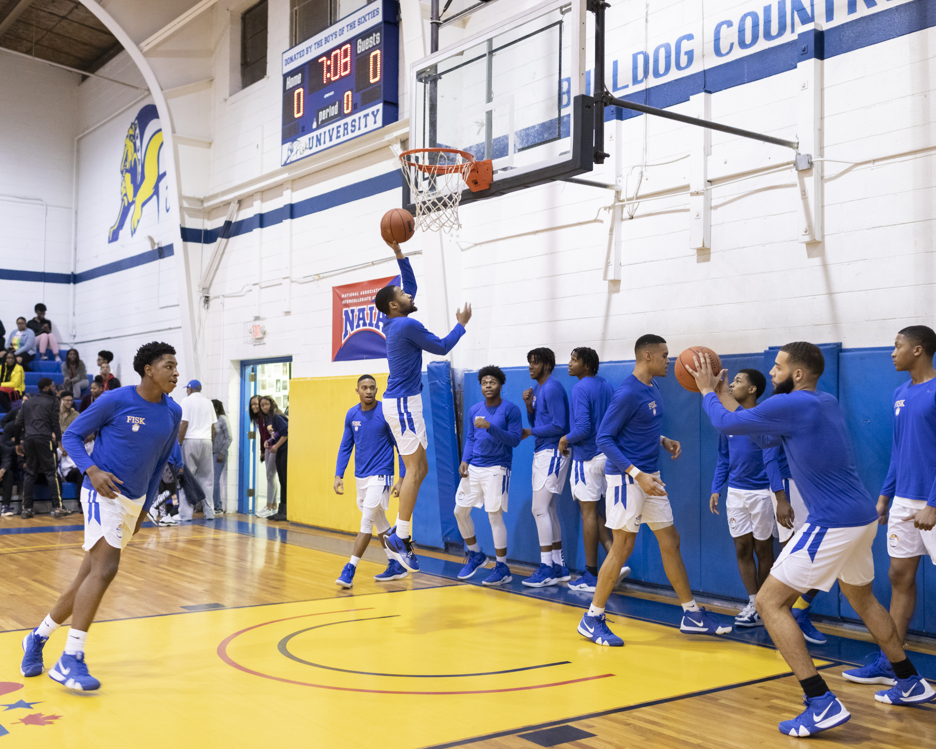 2e32e970d ... New Jersey Nets were taking Anderson No. 2. The Fisk University  basketball team does pregame warm-up drills.