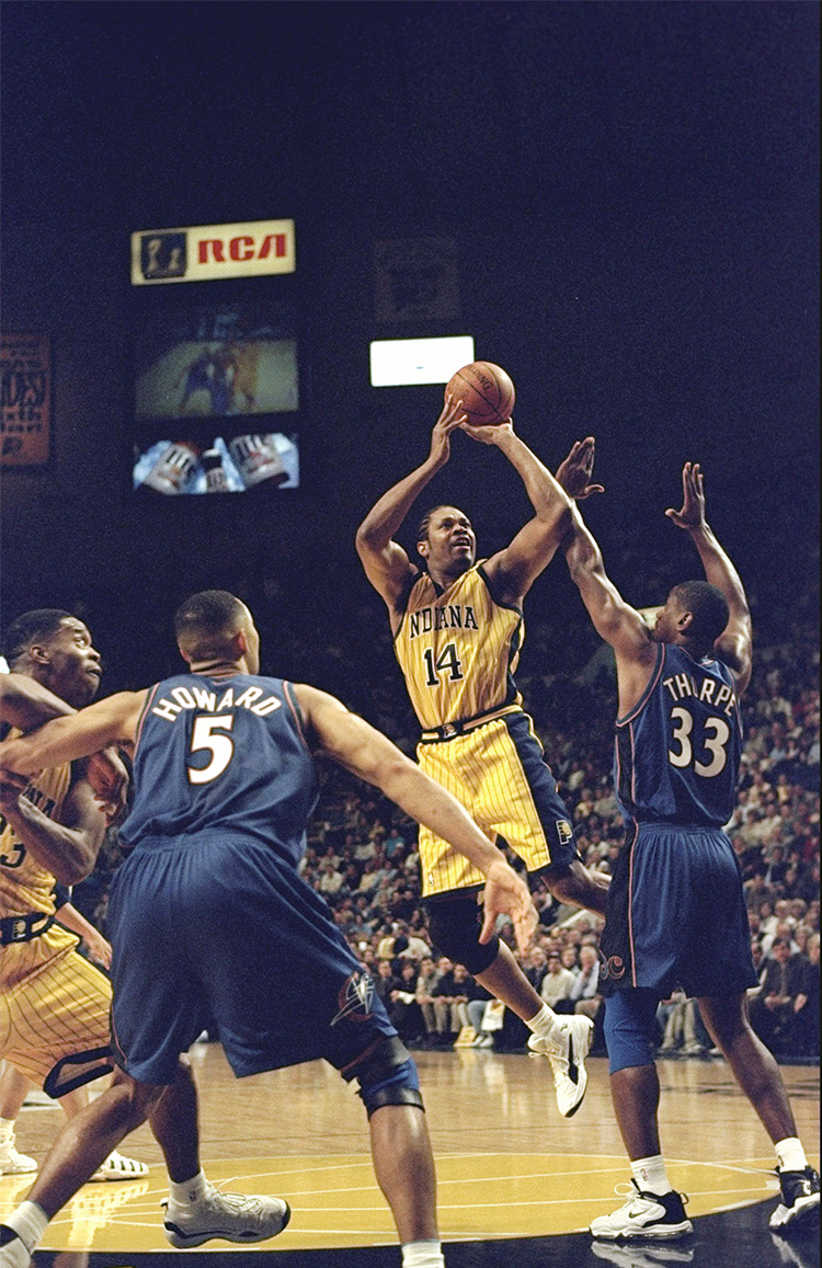 new product e51ab 73ea8 Indiana Pacers big man Sam Perkins makes a shot during a game against the  Washington Wizards on Feb. 5, 1999. Perkins was one of the last NBA players  to ...