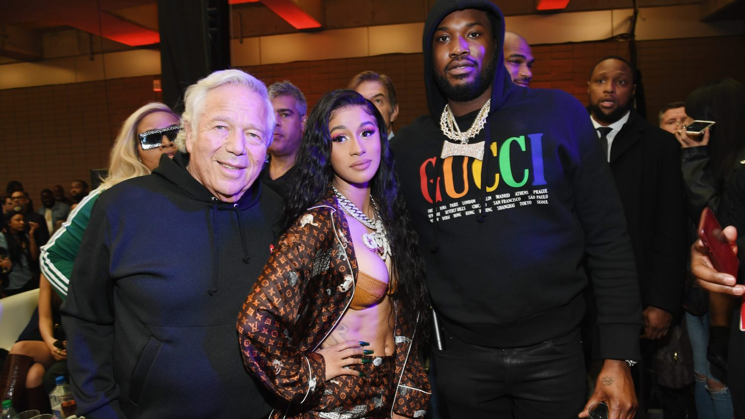 e64871f2a8b55f Atlanta  Where Cardi B and Robert Kraft dance on stage