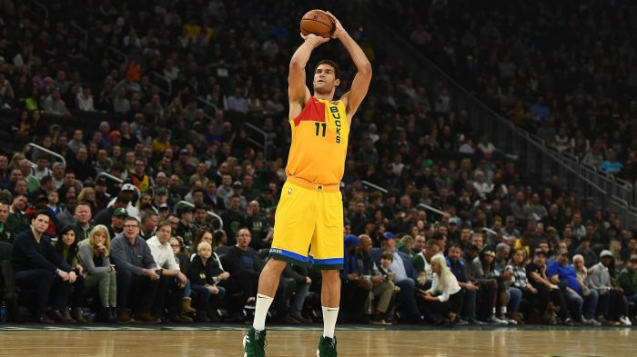 4fb20359a0a Brook Lopez is the Bucks  3-point shooting avenger