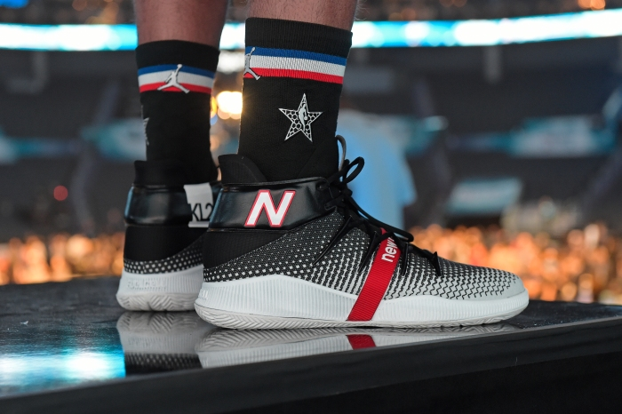 392c5f6b8 Kawhi Leonard s New Balance sneakers. Tom O Connor NBAE via Getty Images