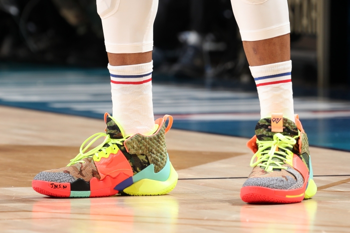 03ddfb5eb4e0 The sneakers worn by Russell Westbrook of Team Giannis during the 2019 NBA  All-Star Game. Photo by Nathaniel S. Butler NBAE via Getty Images