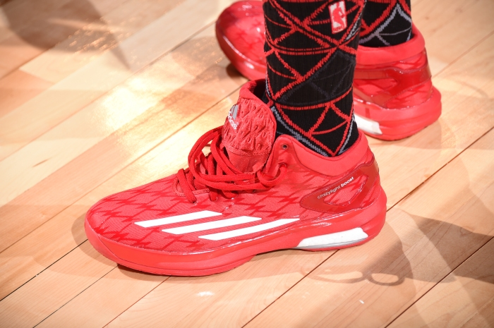 4026813745a3 Kyle Lowry s shoes during the Degree Shooting Stars competition on State  Farm All-Star Saturday Night as part of 2015 NBA All-Star Weekend on Feb.