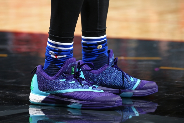 save off b01d2 dc4f5 Toronto Raptors point guard Kyle Lowrys shoes during the NBA All-Star Game  as part of 2016 NBA All-Star Weekend on Feb. 14, 2016, at the Air Canada  Centre ...
