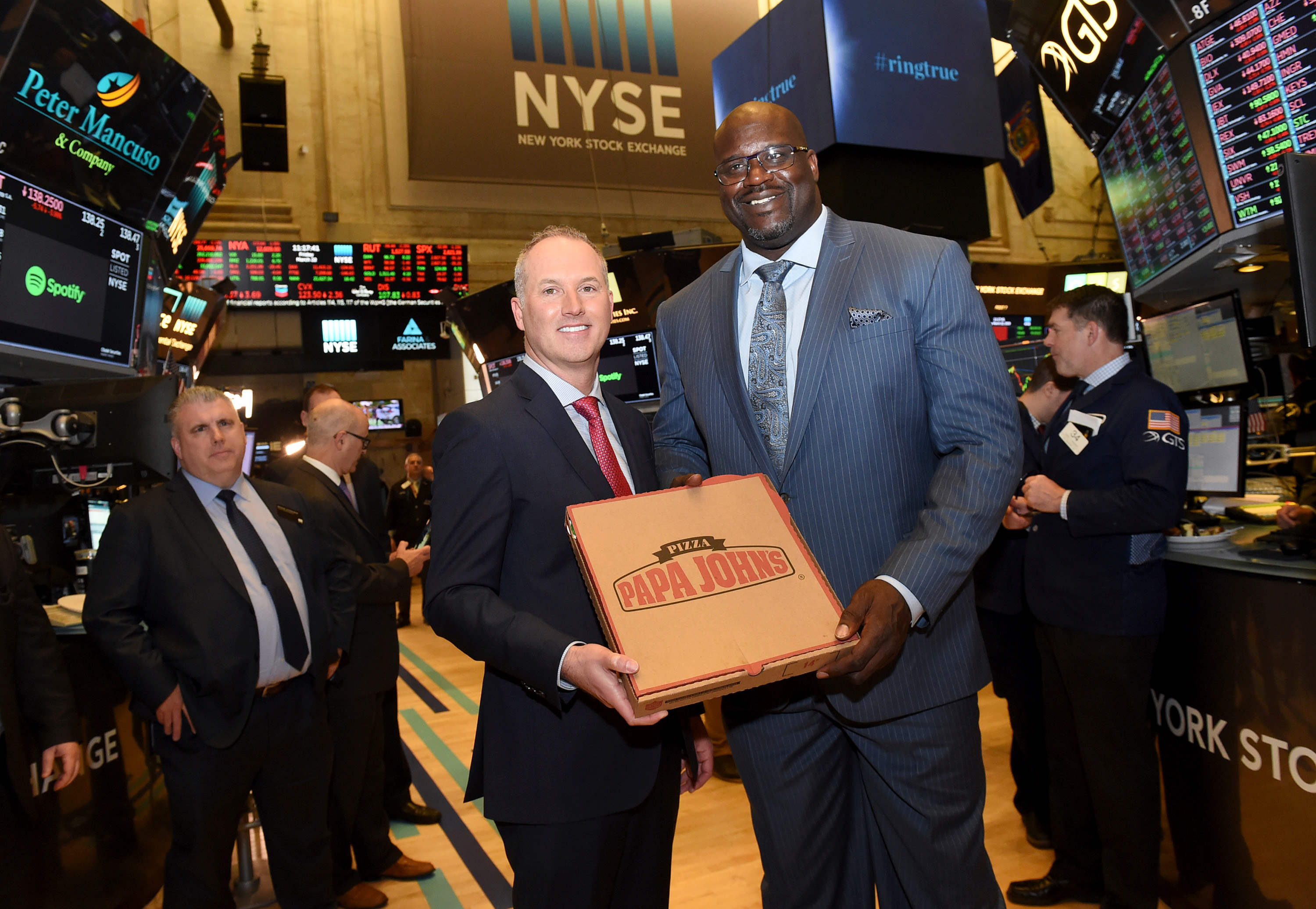 5a55db88bdd Basketball Hall of Famer and restaurateur Shaquille O Neal (right) and  Steve Ritchie (left)