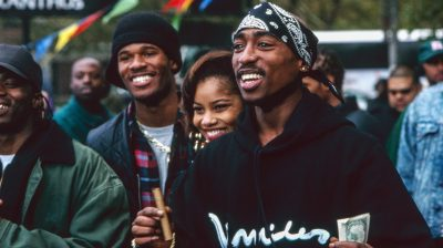 Tupac Shakur during the filming of Above the Rim- Courtesy of New Line Cinema