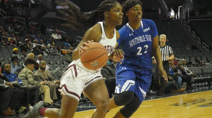 Virginia Union guard Shareka McNeil