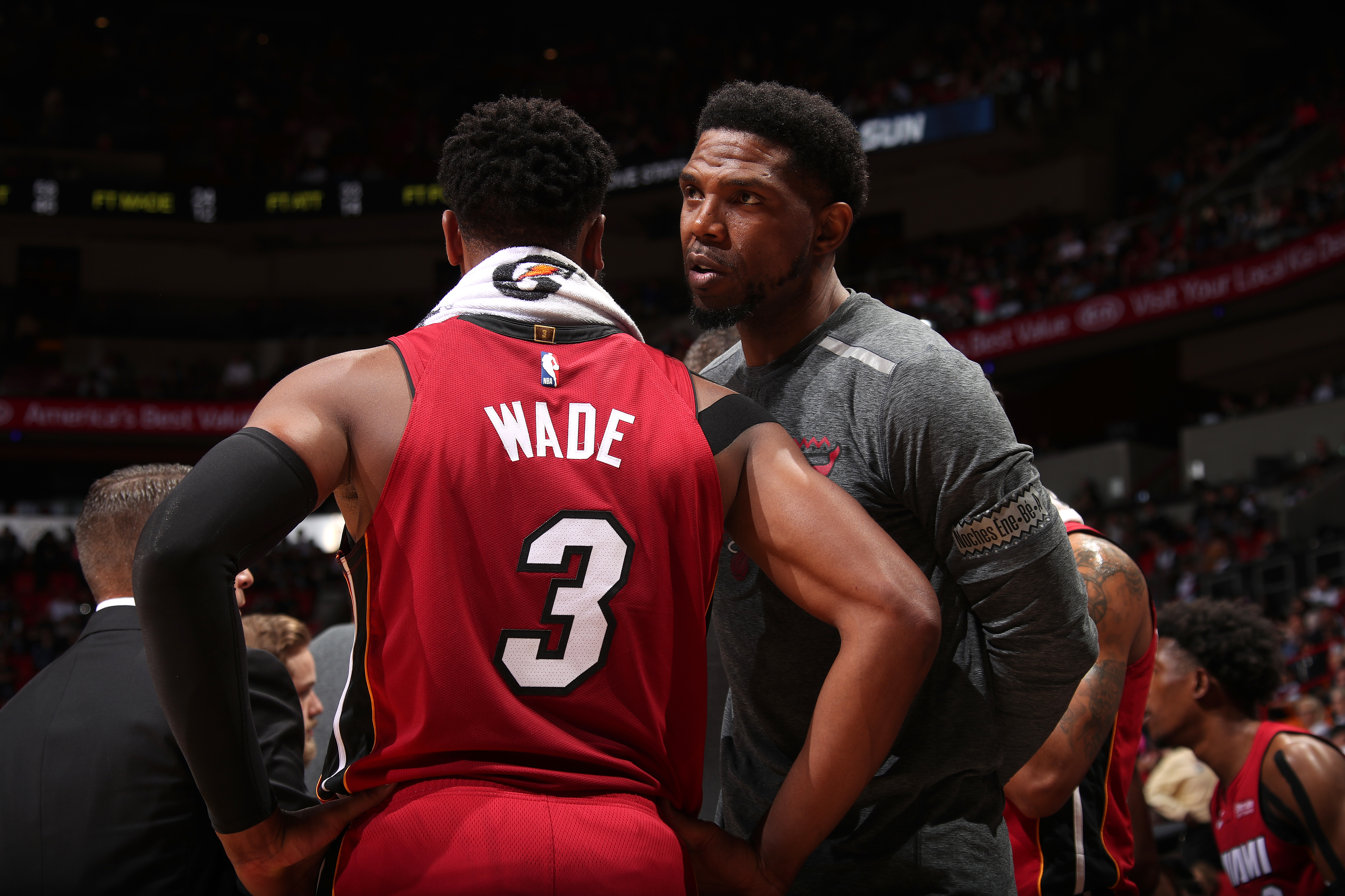 9ea844c08f0 Dwyane Wade (left) and Udonis Haslem (right) both joined the Miami Heat in  2003.