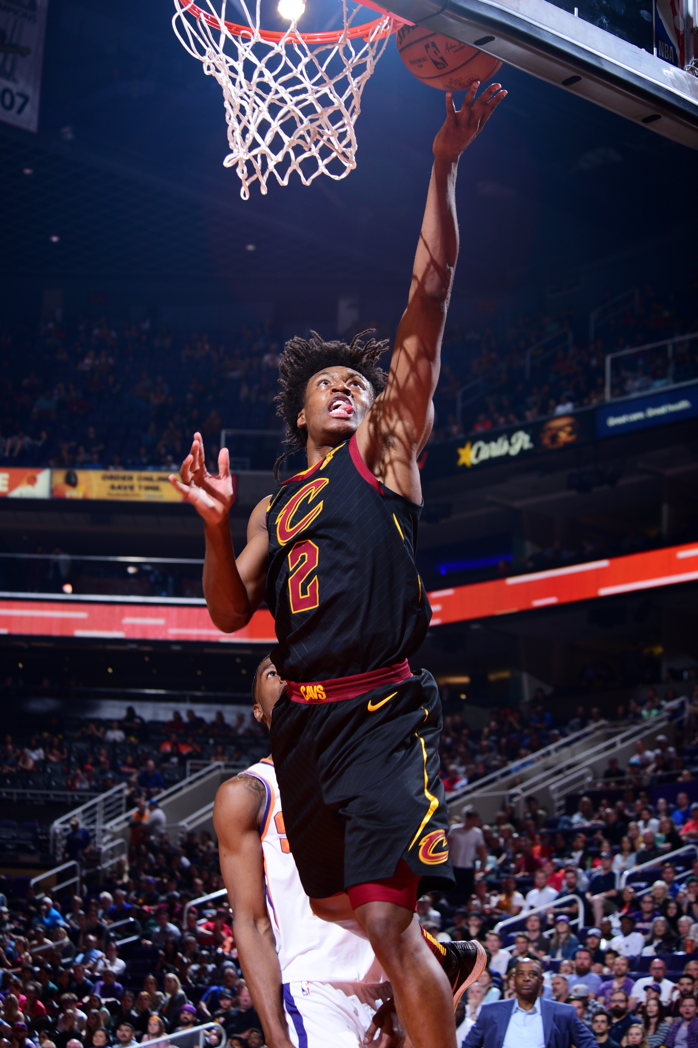 6502b55744d Collin Sexton of the Cleveland Cavaliers goes up for a layup against the  Phoenix Suns on April 1 at Talking Stick Resort Arena in Phoenix.