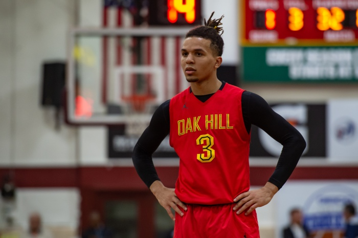 separation shoes 54772 4f78a Oak Hill Academy Warriors guard Cole Anthony is pictured during the Geico  Nationals high school basketball tournament semifinal against the La  Lumiere ...
