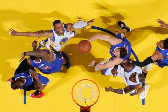 d7b8f10b3d97ff The Golden State Warriors and Los Angeles Clippers fight for the rebound in  Game Four of the Western Conference Quarterfinals during the 2014 NBA  Playoffs ...