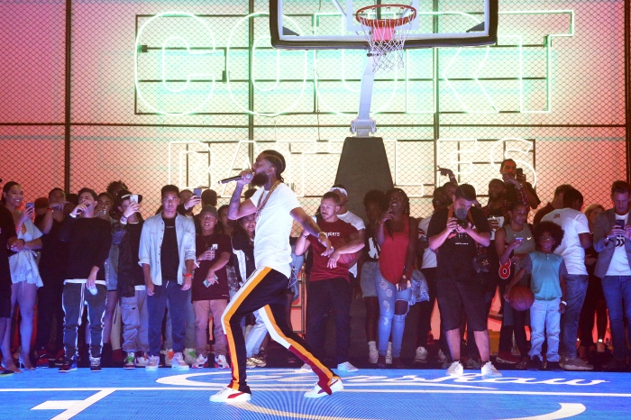 7566a5c2f5d6 Nipsey Hussle performs during the launch of EA Sports  NBA Live 19 at Goya  Studios in Los Angeles on Aug. 24