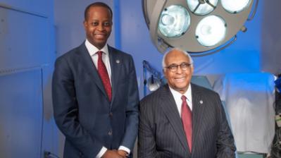 Howard University President Wayne Frederick and Dr. LaSalle Leffall