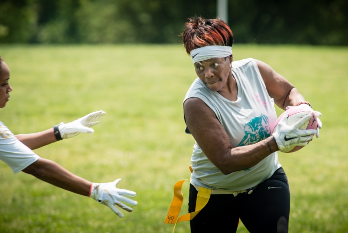 On this football team, keep your eye out for the trash-talking mom