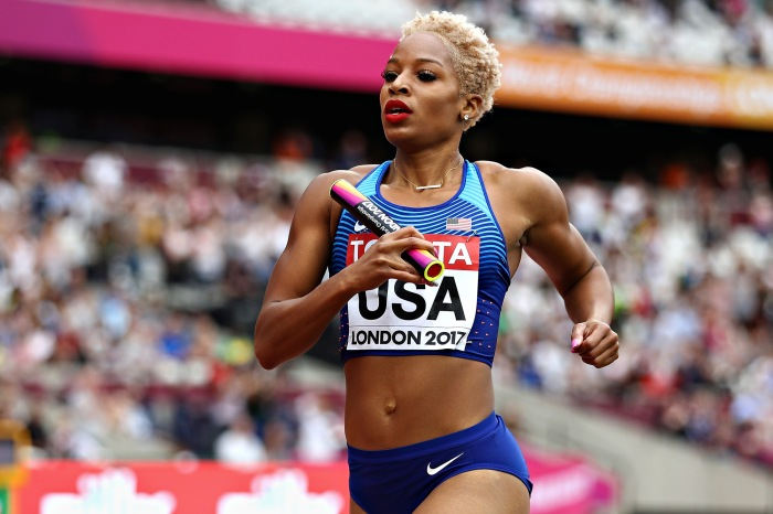 Natasha Hastings runs down the obstacles of being a pregnant Olympic