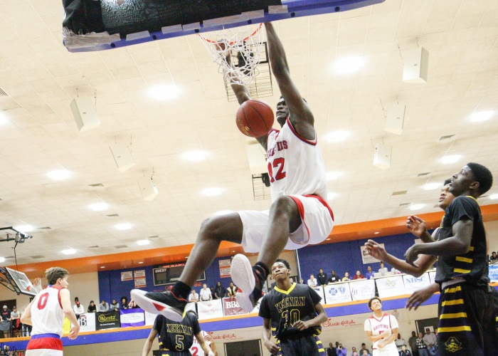 55b0c7f30d84cd Spartanburg Day s Zion Williamson throws down a dunk while playing against  Keenan during the Chick-fil-A Classic at Richland Northeast High School on  Dec.