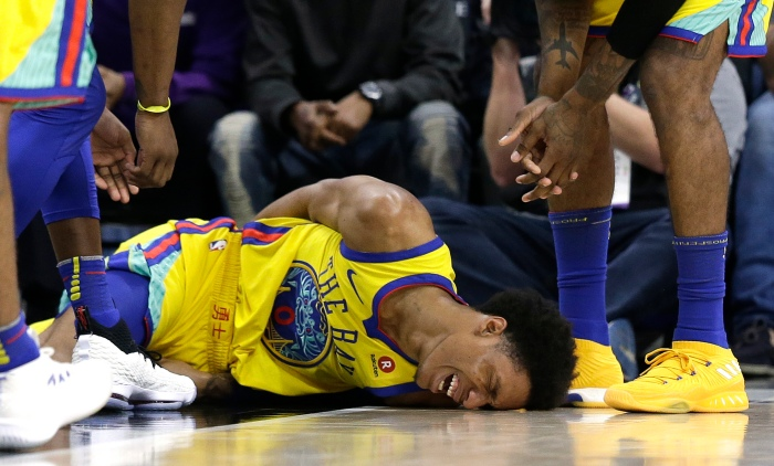 27bb9e7be Patrick McCaw suffered a scary injury against the Sacramento Kings on March  31