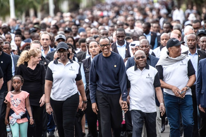 Rwandan president Paul Kagame makes grand appearance at