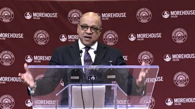 Morehouse College president David A. Thomas