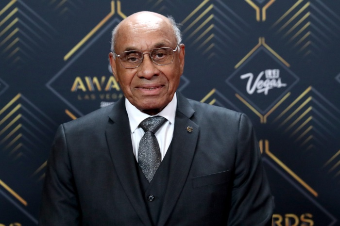 41d74c4a63bc Willie O'Ree arrives at the 2019 NHL Awards at the Mandalay Bay Events  Center in Las Vegas on June 19.