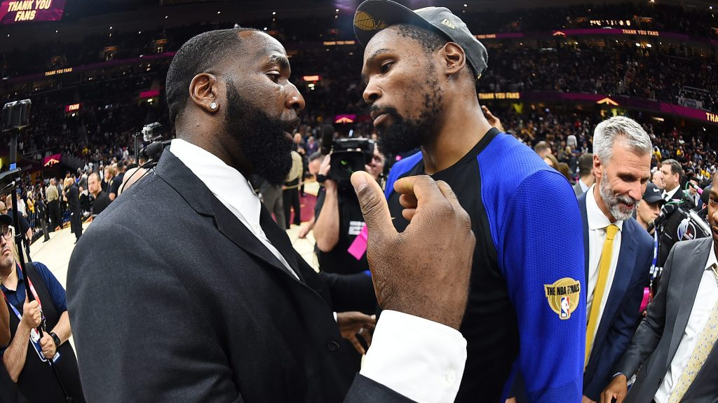 Kendrick Perkins on Kevin Durant: 'Finally, he got his own team'