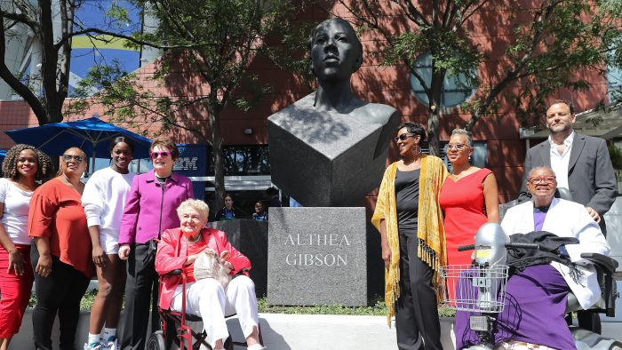Statue honoring Althea Gibson unveiled at the US Open