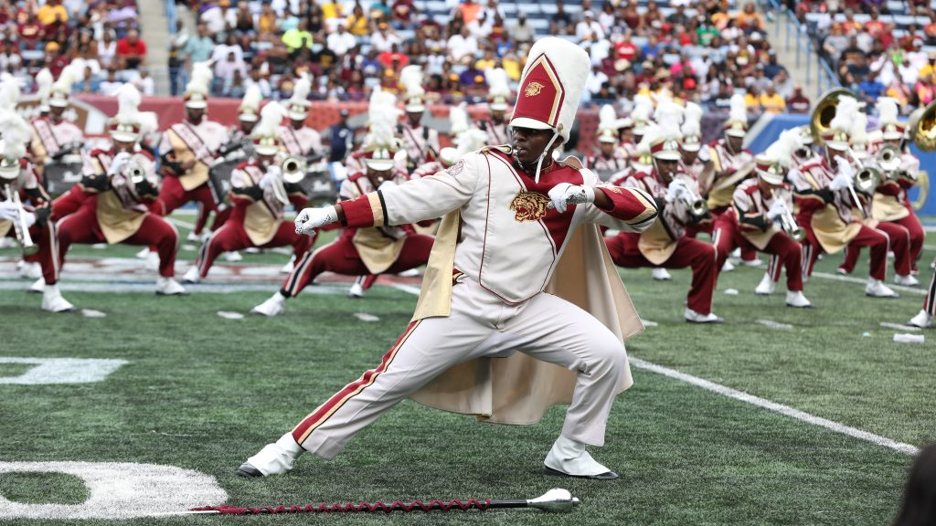 Bands put on great show all game long at MEAC/SWAC Challenge