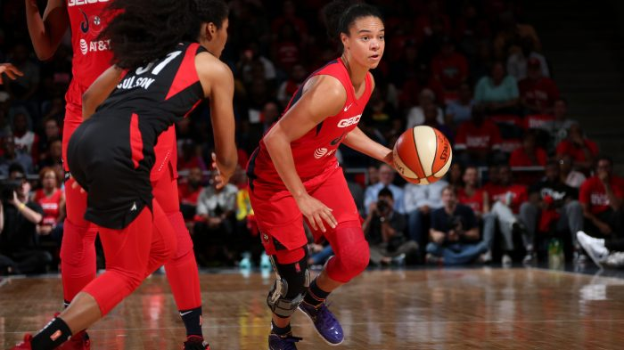 Mystics' Kristi Toliver is back on court as a teammate, and a coach