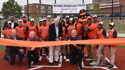 Baltimore's Frederick Douglass High gets new baseball-softball fields