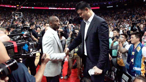 Kobe Bryant and Yao Ming