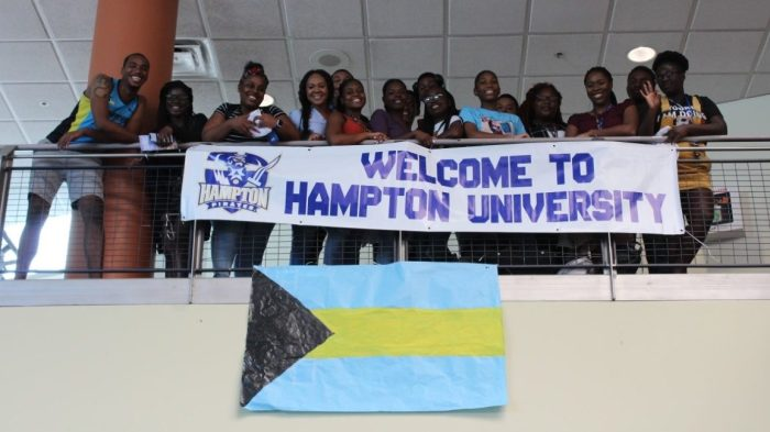 Hampton's Bahamian students