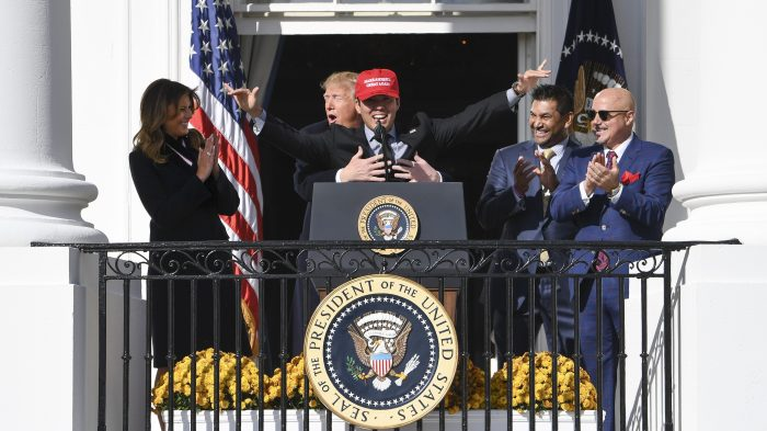 2019 World Series Champion Washington Nationals White House Visit