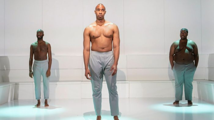 From left to right: Leland Fowler, Jamyl Dobson, and Edward Mawere star inone in two.Monique Carboni