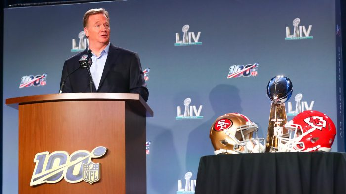 NFL: JAN 29 Super Bowl LIV – Commissioners Press Conference