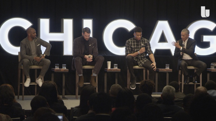 President Barack Obama's All-Star fireside chat with Giannis, Chris Paul and Kevin Love