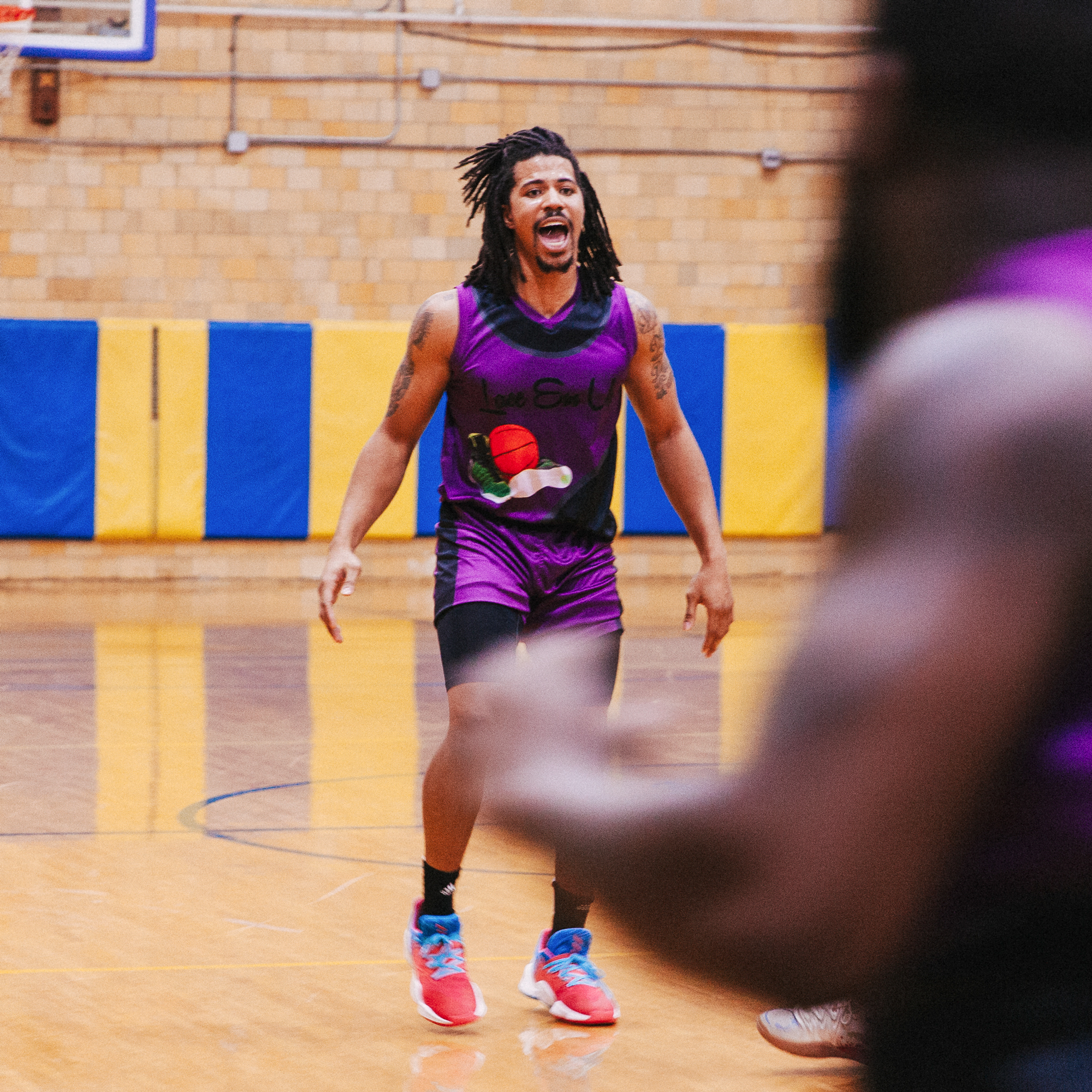 Lane Barlow from the Lace Em Up League, a recreational basketball league in Chicago.