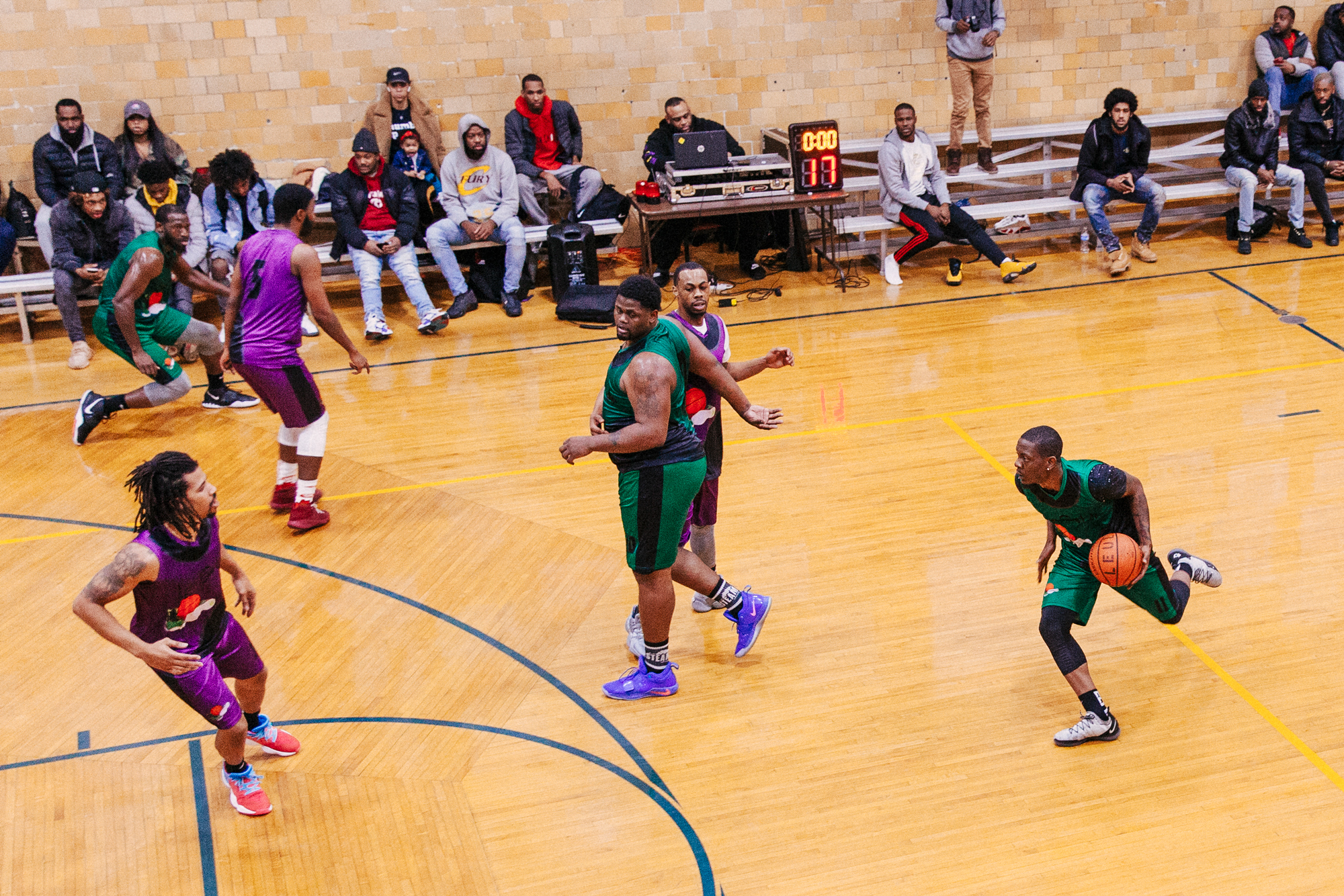 Players from the Lace Em Up League in Chicago.