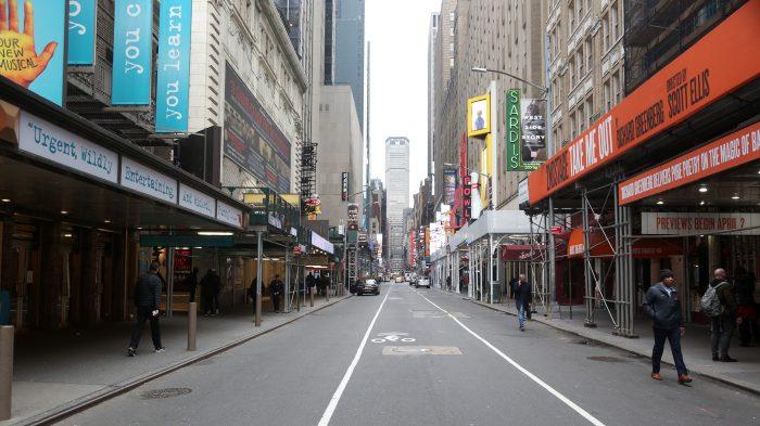 Broadway Theaters Go Dark In New York City During Coronavirus Threat